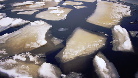 Drifting of Onego lake ice, Petrozavodsk Stock Video Footage