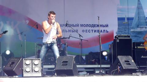 PETROZAVODSK, RUSSIA - JULY 23: 'Radiosny' rock ba Footage