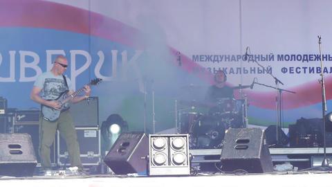 PETROZAVODSK, RUSSIA - JULY 23: 'Radiosny' rock ba Stock Video Footage