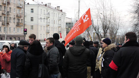 Protests against unfair elections in Russia on Dec Footage