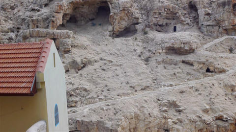 Saint Sabbas (Mar Saba) monastery near Jerusalem,  Footage