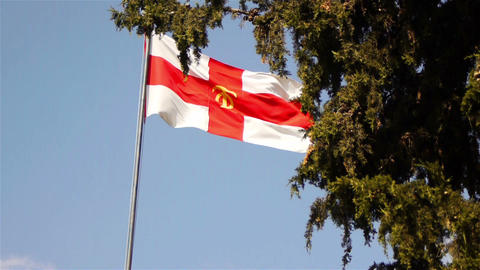 Flag of Holy Sepulchre Brotherhood Footage