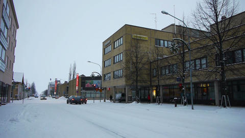 Central Street Of Joensuu, Finland stock footage