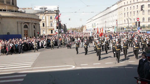 Victory day celebration in Saint Petersburg, Russi Footage