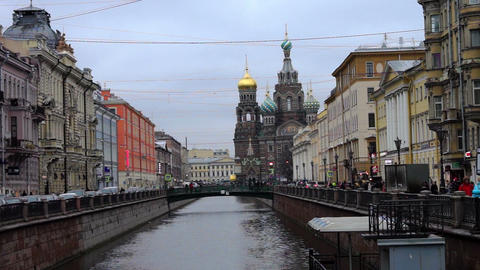 Scenic view at Church of Savior on Spilled Blood i Footage