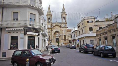 Saint Cosma And Damiano Basilica In Alberobello, I stock footage