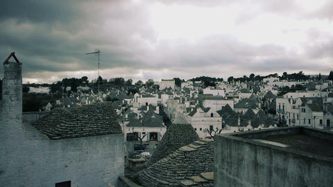 Trulli - traditional homes in Alberobello, Italy Footage