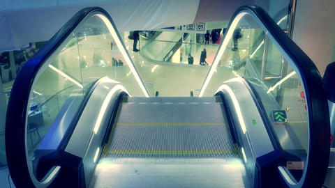 Escalator moving down Footage