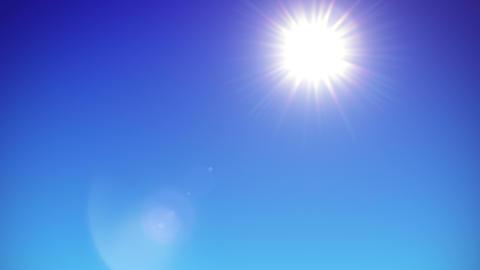 Sun is rising on clear sky - 4K Animation