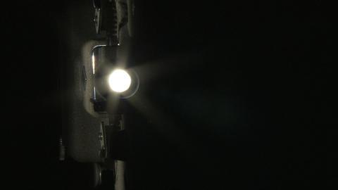 Projector lamp flickering Stock Video Footage