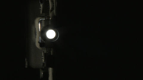 Projector Lamp Flickering stock footage