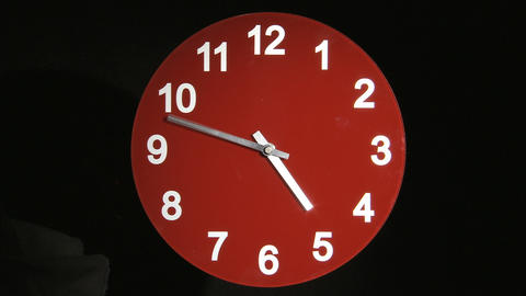 Red Clock Timelapse Footage