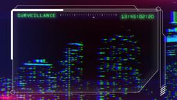 City surveillance pan Footage