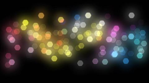 Beautiful Bokeh Lights On Black Background Flicker stock footage