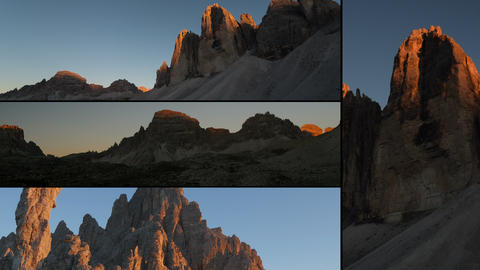 4k UHD Dolomites Alps Sunset Montage Three 11595 stock footage