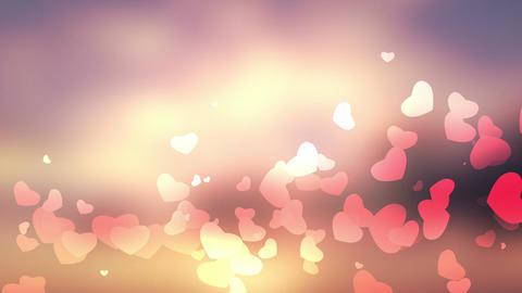 glittering heart on bokeh video background loop Animation