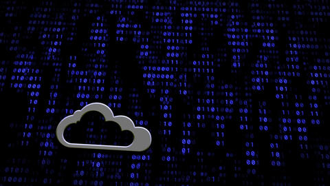 Cloud Computing Concept Digital Wall Animation