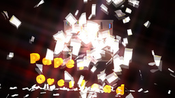 Paper Overload Explosion: (Ver. #1 Dark Background Animation