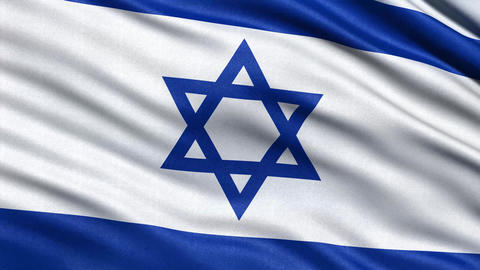 4 K israel flag Animation