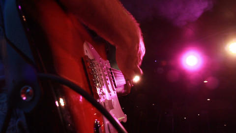 beautiful close up of the electric guitar while playing Footage