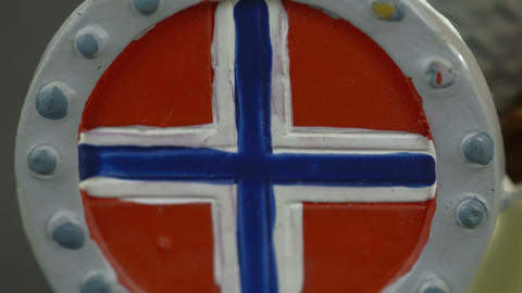A drawing of a Norway flag Footage