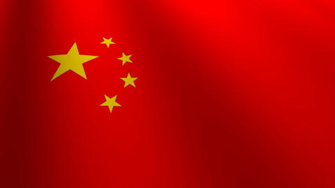 china flag loop Flags flags nation country Nations united Stock Video Footage