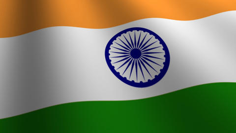 india flag loop Flags flags nation country Nations united Stock Video Footage