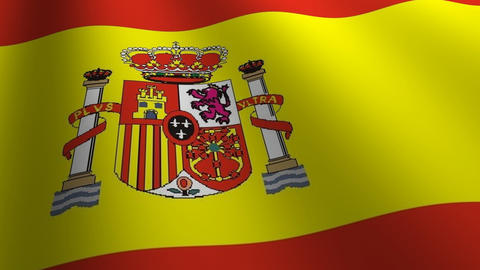Spain flag loop Flags flags nation country Nations united Stock Video Footage