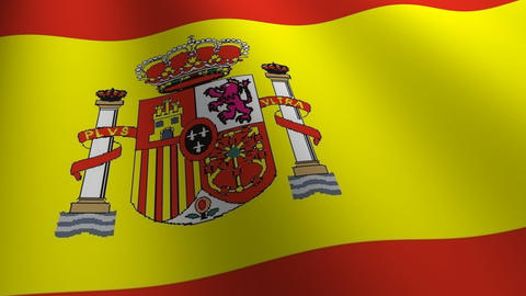 Spain flag loop Flags flags nation country Nations united Animation