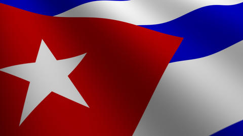 Cuba flag loop Flags flags nation country Nations united Stock Video Footage