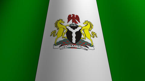 Nigeria flag loop Flags flags nation country Nations united Stock Video Footage