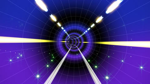 Neon Tunnel A HD Animation