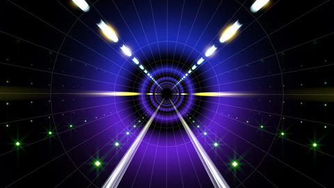 Neon Tunnel A HD Stock Video Footage