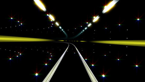 Neon Tunnel E HD Animation