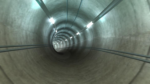 Subway Tunnel A2 HD Stock Video Footage