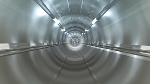 Subway Tunnel B2 HD Stock Video Footage