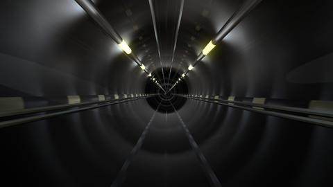 Subway Tunnel C2 HD Stock Video Footage