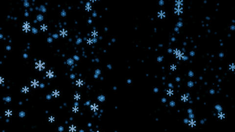 Loopable snowfall at night Animation