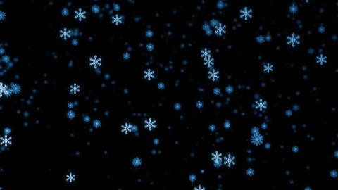 Loopable snowfall at night Stock Video Footage