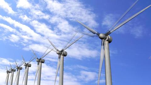 Solar Panels Wind Turbine environment ecological Energy... Stock Video Footage