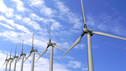 Solar Panels Wind Turbine environment ecological Energy pollution sky water Animation