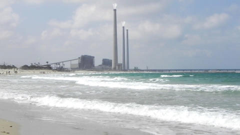 Pollution Turbine environment Energy power station gas pollution factory Live Action