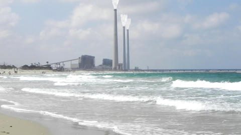 Pollution Turbine environment Energy power station gas... Stock Video Footage