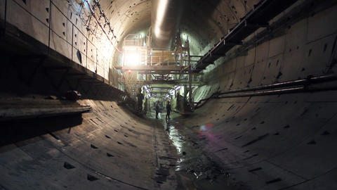 Tunnel construction 005 Stock Video Footage