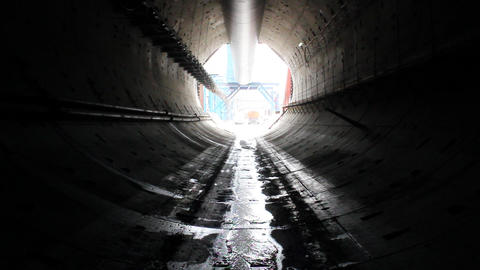 Tunnel construction 007 Stock Video Footage