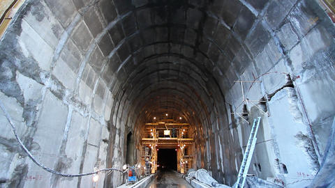 Tunnel construction 002 Stock Video Footage