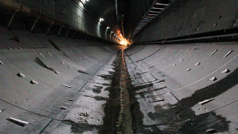 Tunnel construction 011 Stock Video Footage