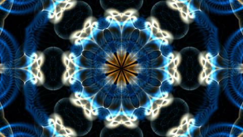 blue flower lotus fancy pattern,kaleidoscope,oriental religion texture.Buddhism Mandala Animation