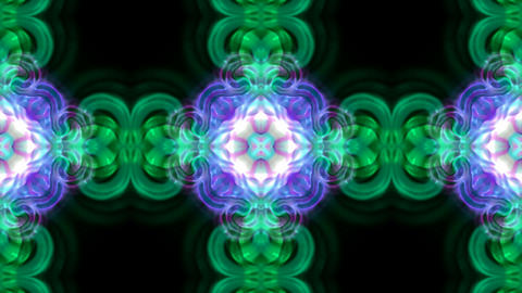 Animation of color flower lotus pattern, oriental... Stock Video Footage