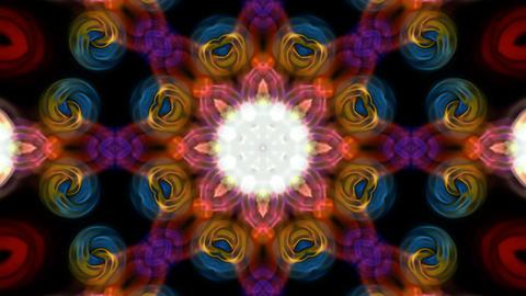 deformation of color flower lotus pattern, orienta Stock Video Footage